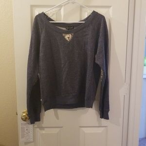 Elbow patched sweater